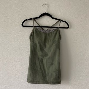 LULULEMON/ olive green tank